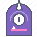 character, cyclops, horn, minion, unicorn icon