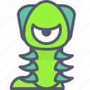 character, creature, mascot, worm icon