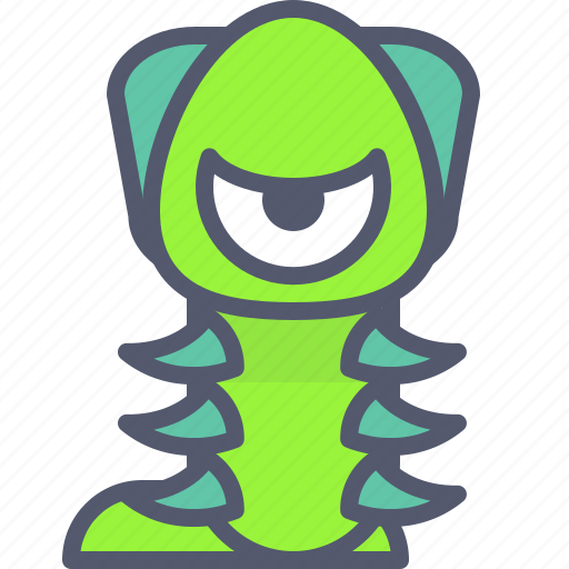character, creature, mascot, worm icon