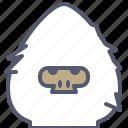 character, creature, mascot, snow, winter, yeti icon