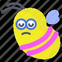 bee, brain, character, creature, mascot icon