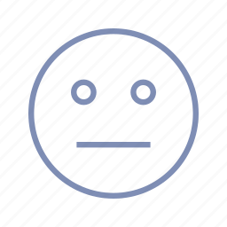 emotions, mood, neutral, serious, smiley, speechless icon