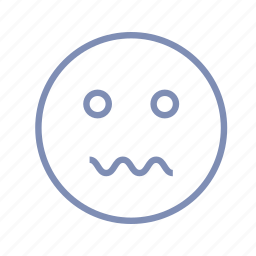 confusion, emotions, mood, smiley, worry icon