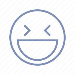 blink, emotions, laugh, mood, rofl, smiley icon