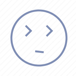 blink, bored, dull, emotions, mood, smiley icon