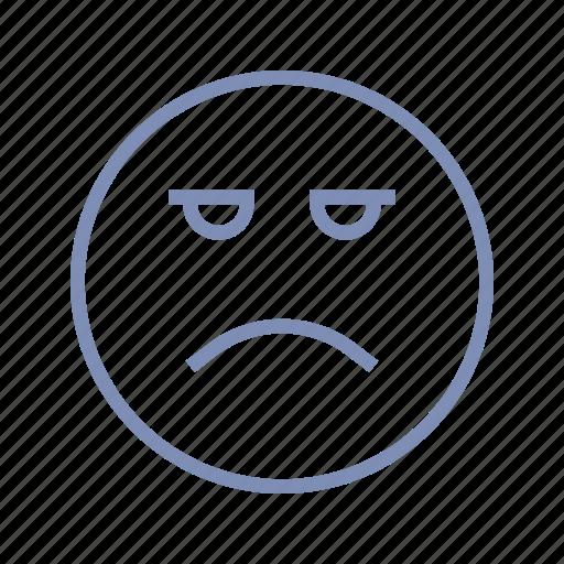 displeased, emotions, mood, sad, smiley, sorrow icon