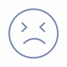blink, displeased, dizzy, emotions, mood, sad, smiley icon