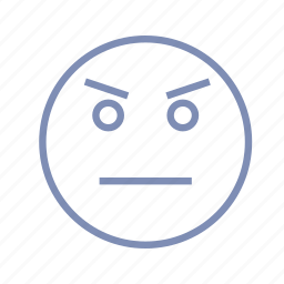 angry, displeased, emotions, mood, smiley icon