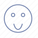 embarrassment, emotions, jolly, mood, smile, smiley icon