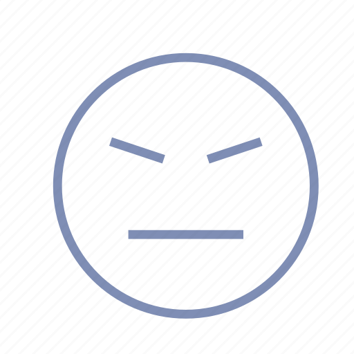 angry, emotions, evil, mood, smiley icon