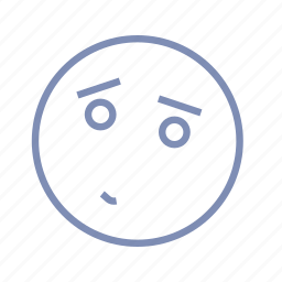 confusion, embarrassment, emotions, mood, sad, smiley icon
