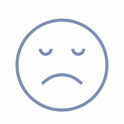 displeased, emotions, mood, sleep, smiley, sorrow icon