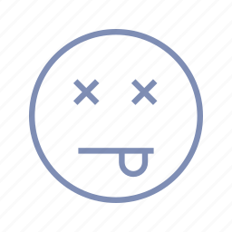 die, dizzy, emotions, mood, smiley, tired icon