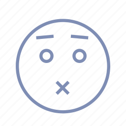 emotions, mood, puke, silent, smiley, speechless icon