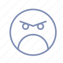 angry, devil, emotions, evil, mood, smiley icon
