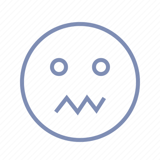 confusion, emotions, mood, smiley, sweat, worry icon