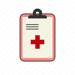 clipboard, health, health records, hospital, medical note, note, patient chart icon