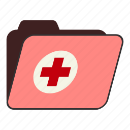 doctors office, folder, health, health record, medical clinic, medical record, patient record icon