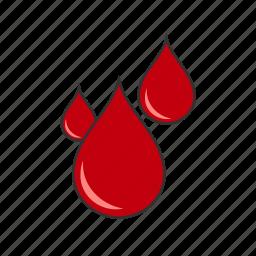 blood, cut, drops, hurt, injured, injury, pain icon