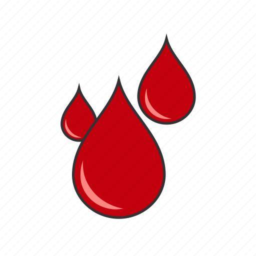 blood, cut, drops, hurt, injured, injury, pain icon