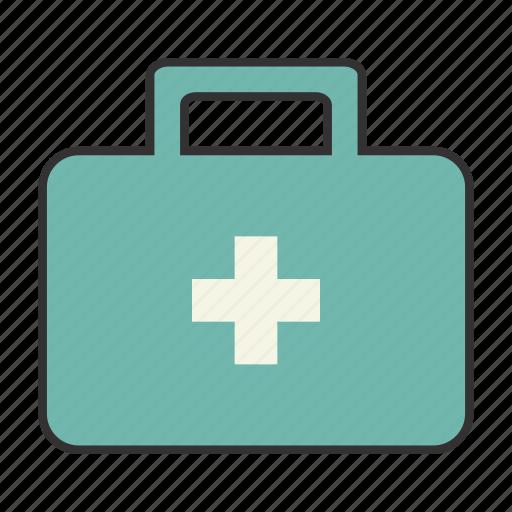 blue, colour, doctor, health, help, medkit, nurse icon