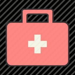 health, help, ill, injury, medkit, pink, sick icon