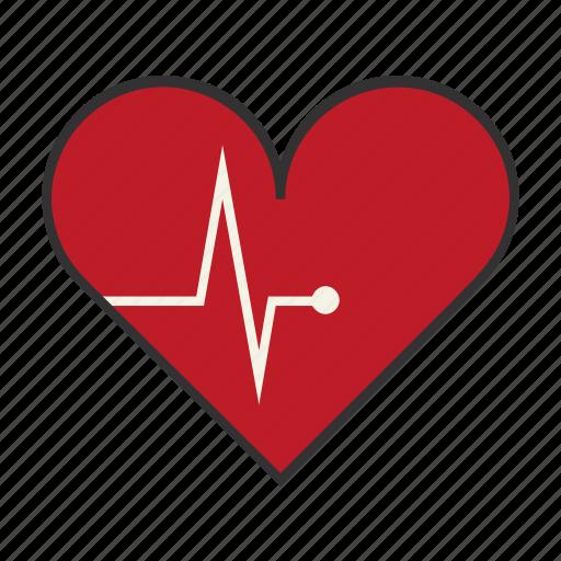 beat, cardiac, dead, ecg, health, heart, pulse icon
