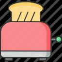 bread, kitchen, machine, toast, toaster