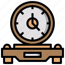 clock, date, furniture, square, time, tool, watch icon