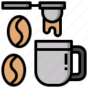 coffee, coffees, cup, hot, plate, restaurant icon