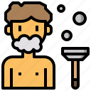 blade, foam, grooming, miscellaneous, razor, shave, shaving icon