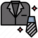 fashion, shirt, suit, tie icon