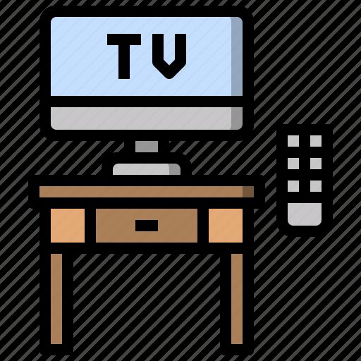 free, furniture, time, tv, watching icon