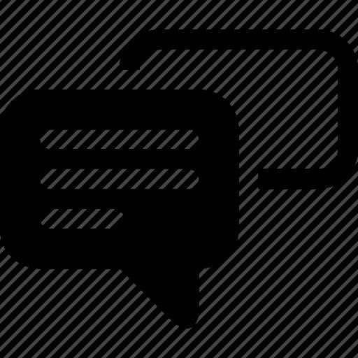 bubble, comments, messages, talk icon