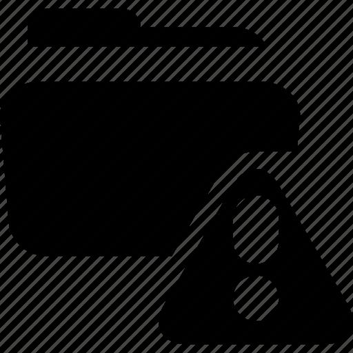 alert, dangerous content, data issue, folder icon