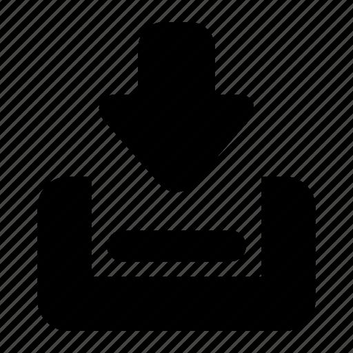 arrow, download, get, guardar, incoming, save icon