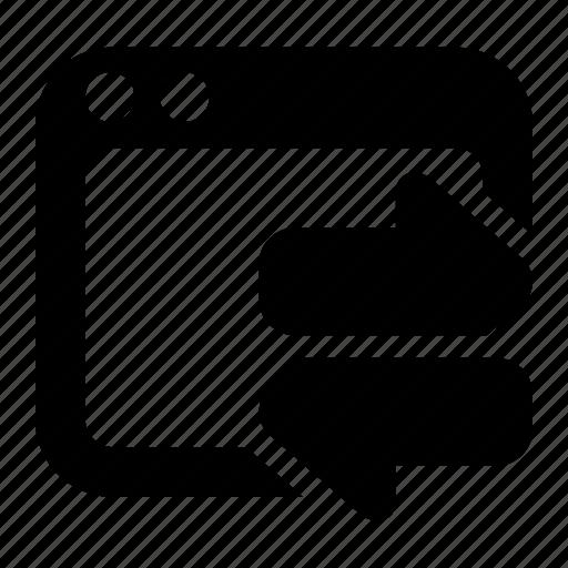 arrows, communication, exchange, interchange, transfer, website traffic, window icon