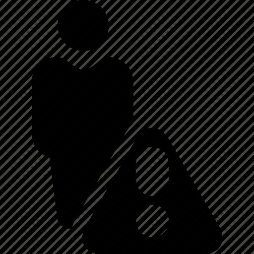 alert, issue, person, profile problem, user icon