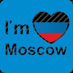 am, capital, city, i, love, loving, moscow icon