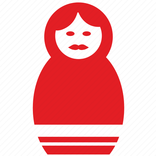 culture, matreshka, moscow, red, russia, tradition icon