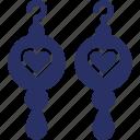 earrings, fashion accessory, glamour, heart earrings icon
