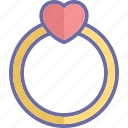 heart ring, jewelry, love ring, ring icon