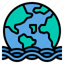 flood, sea, level, natural, disaster, environment, water icon