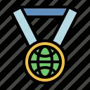 earth, medal, day, ribbon, award, prize