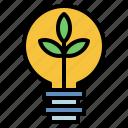 lightbulb, green, energy, ecology, and, environment, innovation, electronics