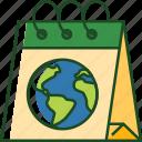 calendar, date, schedule, earth day, event, earth, globe
