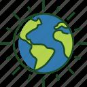 shining, earth, shining earth, planet, ecology, nature, environment