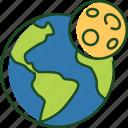 earth, moon, earth moon, planet, world, space, astronomy