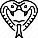 animal, beast, cobra, dangerous, nature, snake, wild icon