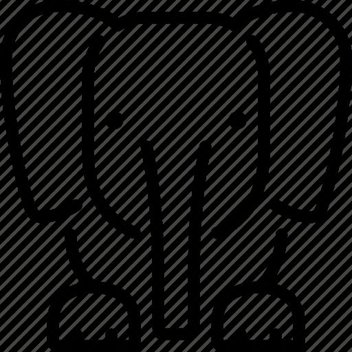 africa, animal, elephant, nature icon